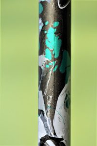 Canne onyx turquoise anthracite